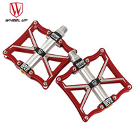 WHEEL UP 3 Bearings Aluminum Bike Pedals CNC Bmx Road Mtb Mountain Cycle Pedals Bike Parts