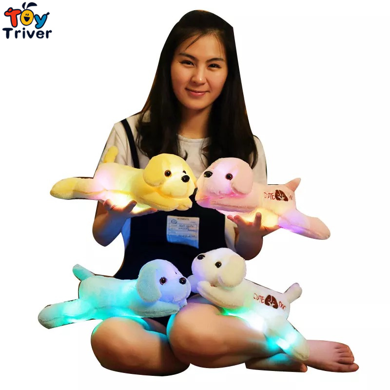 LED light-up toys Luminous Dog Glow light Plush Stuffed Puppy Doll Party Birthday Baby Kids Gift Home Room Shop Decoration 13 8 35cm new design pink hat my melody cute rabbit stuffed plush toys doll kid s birthday gift home decoration
