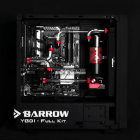 Barrow Hard Tube Water Cooling Kits With 240 120mm Copper Radiator VIRUS T Reservoir RGB Fans