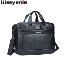 Kissyenia Brand PU Laptop Briefcase Men Bag Travel Suitcase