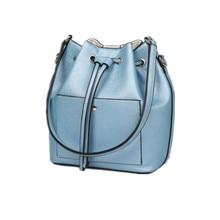 2016 High Quality Women Leather Handbags Fashion Drawstring Single Shoulder Bag Messenger Bags Lady Casual Bucket Crossbody Bags