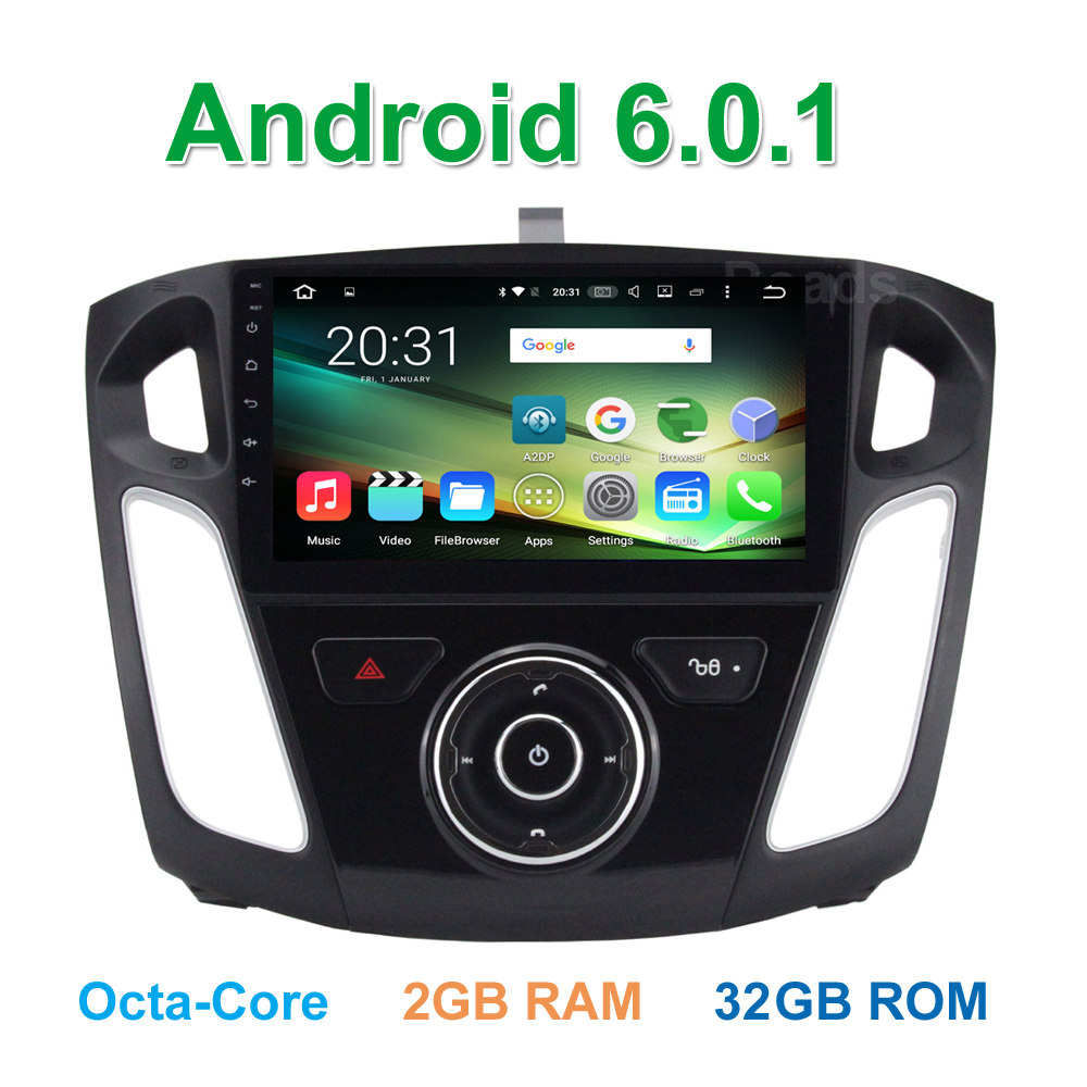 9″ eight Core Android 6 0 Car DVD Multimedia Player Radio GPS for Ford  Focus 3 2011 2012 2013 2014 2015 2016 2017 BT Wifi 2G RAM - Car GPS