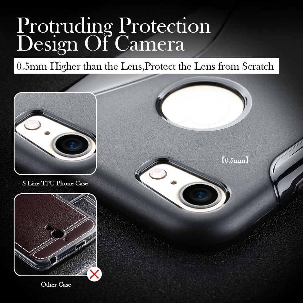 Voor iphone 7 6 6 s plus 5 s se 4 s 5c cover s line telefoon cover - Mobiele telefoon onderdelen en accessoires - Foto 4