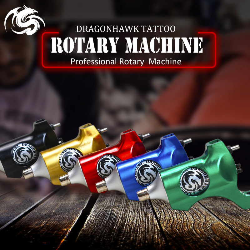 Здесь продается  1 pcs Rotary Tattoo Machine Dragonhawk Tattoo Machine Gun Strong Quiet Motor Supply Liner and Shader RCA Clip Cord  Красота и здоровье