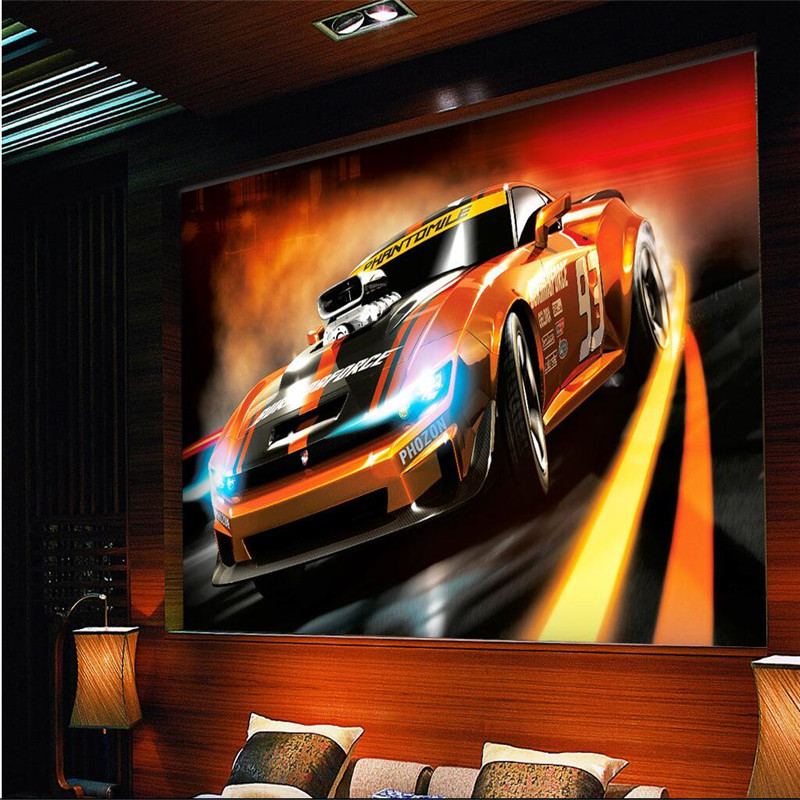 wallpaper-3D Golden Disco Nightclub Bar KTV car speed childrens rooms wall art room wall mural murals-3d wall papers home decor