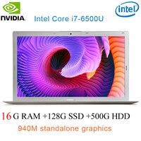 """מקלדת מוארת P10-07 16G RAM 128g SSD 500G HDD אינטל i7-6500u 15.6"""" Gaming 2.5GHz-3.1GHZ NVIDIA GeForce 940M 2G מחשב נייד עם מקלדת מוארת (1)"""