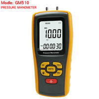 Portable Digital LCD display Pressure manometer GM510 50KPa Pressure differential manometer pressure gauge