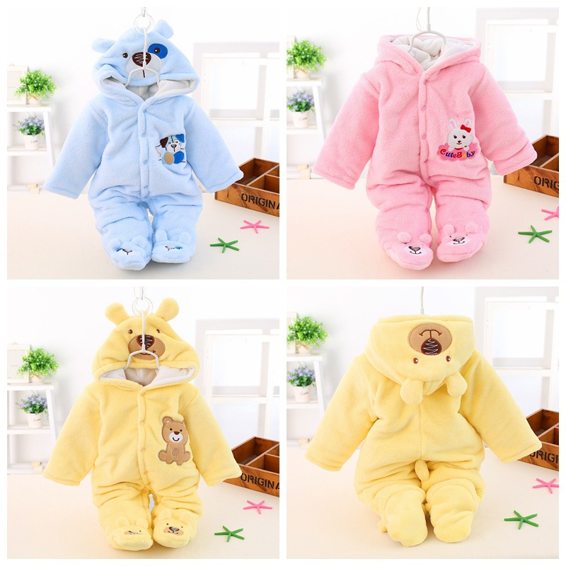 2017 Baby Boys Winter Romper Cotton Padded Thick Newborn Baby Girl Warm Jumpsuit Autumn Fashion Baby's Wear Kid Climb Clothes 2017 new baby winter romper cotton padded thick newborn baby girl warm jumpsuit autumn fashion baby s wear kid climb clothes