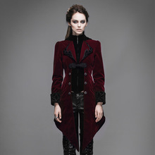 Steampunk Swallow Tail Coat Gothic Palace Women's Long Winter Jackets Cultivate Long Dust Coat Outwear