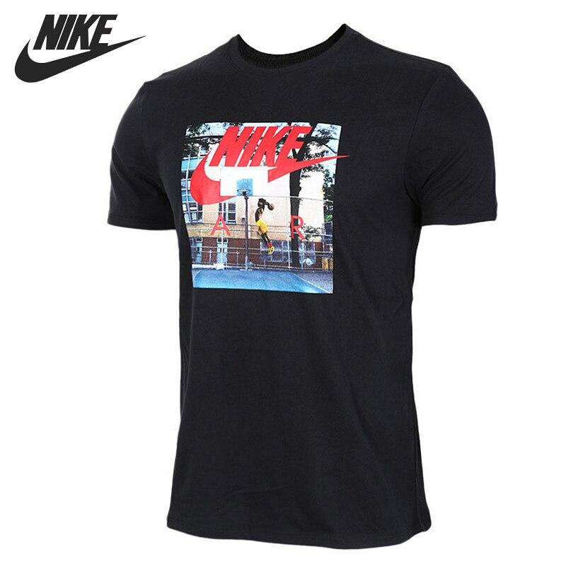US $46.9 |Oryginalny Nowy Nabytek 2017 NIKE JAK M NSW TEE POWIETRZA HYBRID ZDJĘCIE męskie Koszulki z krótkim rękawem Odzież Sportowa w Oryginalny Nowy