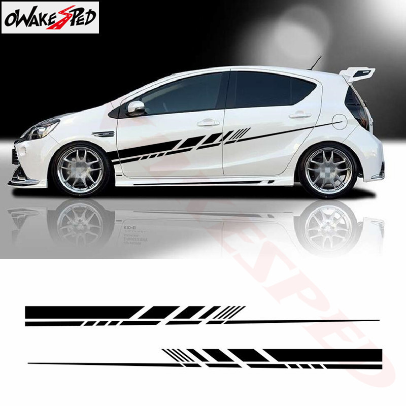Sport Stripes Graphics Vinyl Decal Car Both Side Decor Stickers Auto Body Accessories Limited Edition Sticker For Toyota Aqua