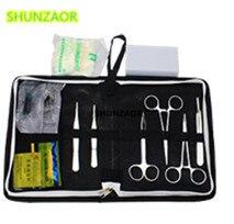 A ciência médica auxilia o jogo de ferramentas do instrumento cirúrgico do treinamento/kits cirúrgicos do pacote da sutura ajustados para o estudante