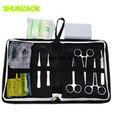 Kit de herramientas de instrumentos quirúrgicos de entrenamiento de ciencia médica/juego de paquetes de sutura quirúrgica para estudiantes