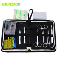 Medical Science Aids training Surgical instrument tool kit/surgical suture package kits set for student medical science blood test slides
