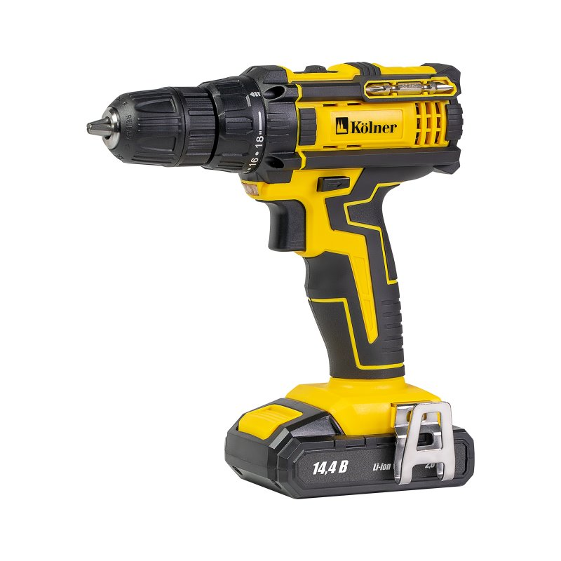 Drill electric screwdriver rechargeable Kolner KCD 14,4/2LС (2 Li-ion battery 14,4В, torque 27 Nm, 2 speed, Ke cordless drill screwdriver kolner kcd 10 8l