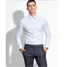 The new style men shirt custom made men wedding groom shirt comfortable white high quality men formal shirt business shirt long