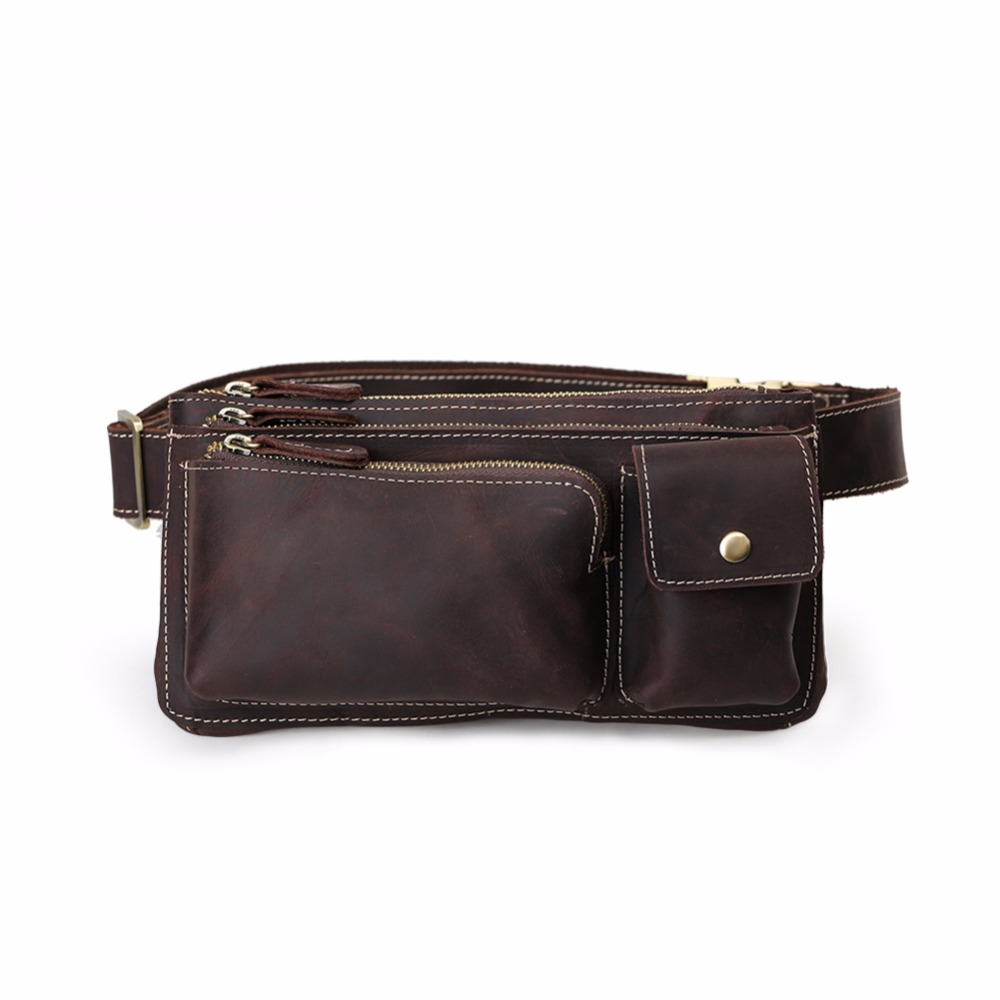 Tiding Men's Small Waist Bag Genuine Cowhide Leather Bum Bag for Cell Phone British Retro Style Cross Body Bag Solid 31623 выключатель проходной одноклавишный с подсветкой werkel aluminium серо коричневый wl07 skgsc 01 ip44 wl07 sw 1g 2w led
