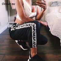 Hip Hop Female Black Women Casual Loose Pants Ladies Simpel Lounge Trousers LQ022