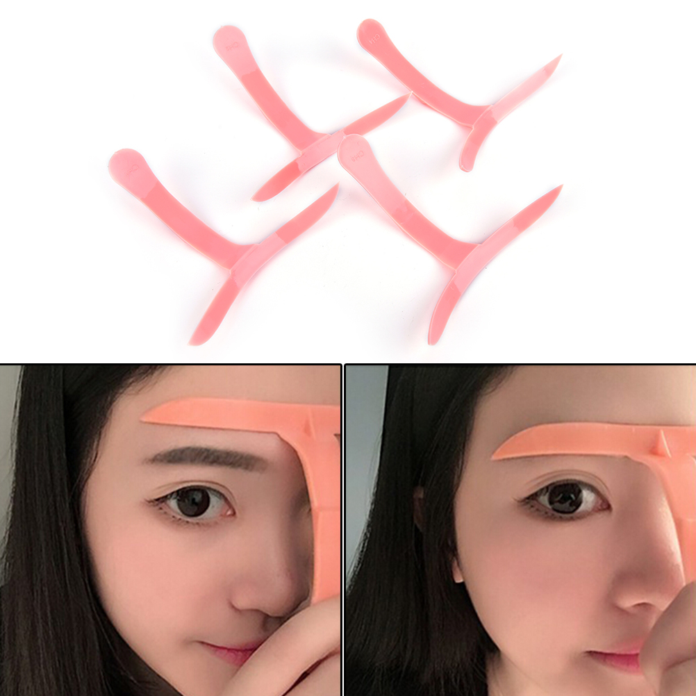 4Pcs Girl Amazing Microblading Eyebrow Shaper Template Stencil Ruler ...