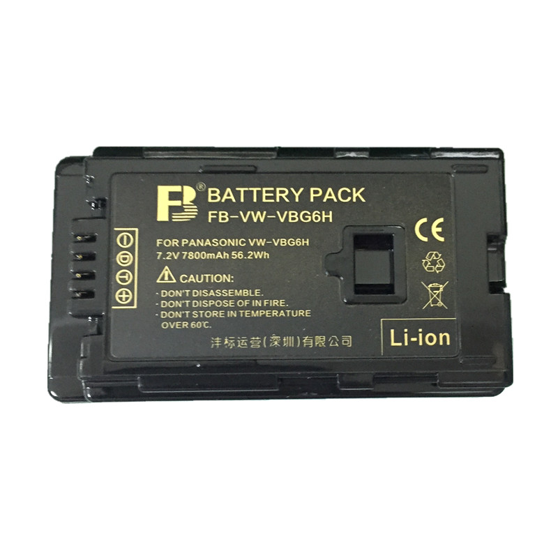 VW-VBG6H VW-VBG6 Digital camera Battery VBG6H lithium batteries VW VBG6 For Panasonic HDC-DX1 AG-HMC150 HDC-HS20 HPX250 VDR-D50 replacement vbk360 3 7v 3580mah battery for panasonic hdc tm90 more