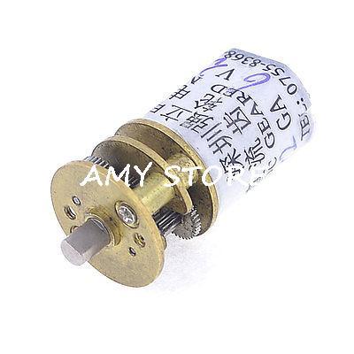 DC 6V 30RPM 3mm Shaft Dia 2 Terminals Cylinder Shape Electric Geared Motor round shaft cylinder electric mini vibration motor 6900rpm 1 5 6vdc