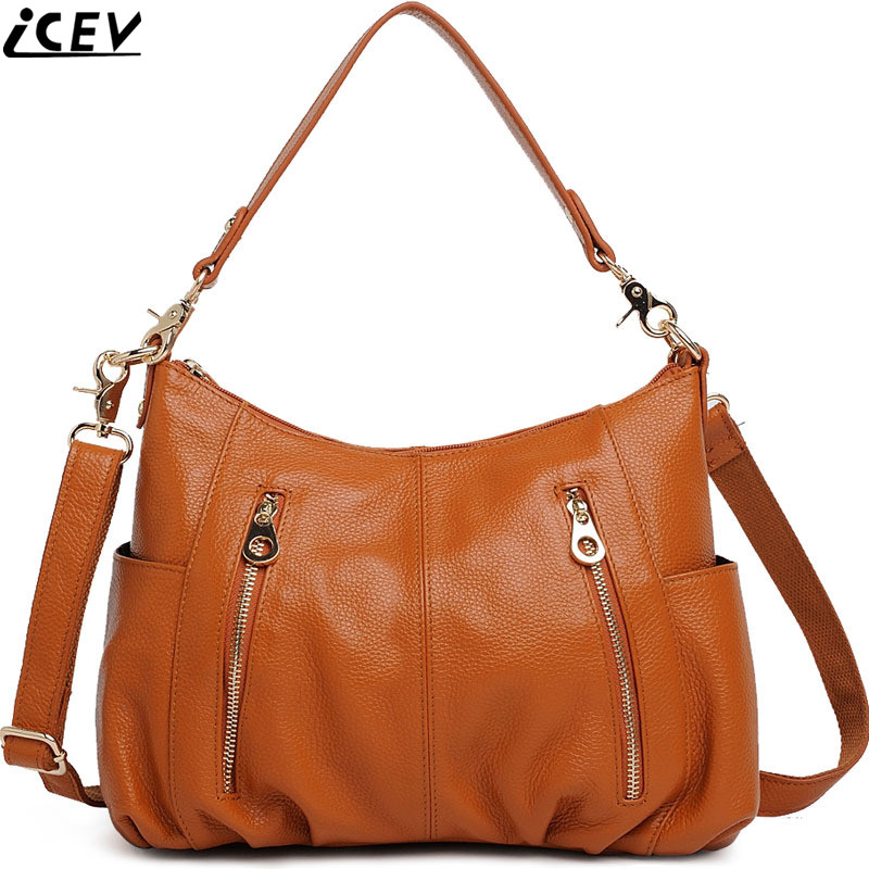 New Designer Brand High Quality Cowhide Women Messenger Bags Handbags Women Famous Brands Lady's Bag Made of Genuine Leather bag 2017 new female genuine leather handbags first layer of cowhide fashion simple women shoulder messenger bags bucket bags