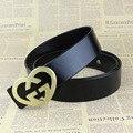 Mens Belts Luxury Designer Belts Genuine Leather Brass Belt G Buckle Luxury Brand Men Belt Ceinture Homme Cinturones Mujer GZ