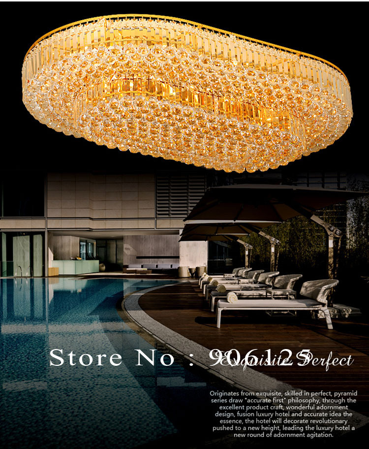 Empire Crystal Flush Mount Ceiling Light Fixture Gold /Chrome Crystal Ceiling Light Lighting Guaranteed 100%+Free shipping!
