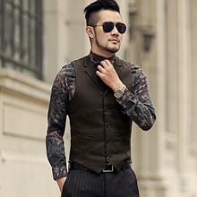 2018 Mens winter woolen solid slim casual cotton vest brand design mens European style new arrival formal suit vest waistcoat