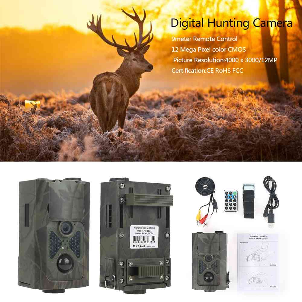 Skatolly HC550A 16MP Infrared Night Vision Hunting Camera Wildlife Trail Cameras Scouting Trail Hunter Camera pk HC300A hot sale hunting wildlife camera night vision 940nm ir infrared trail cameras game hunter 9282