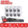 8CH 1080P POE 48V Real NVR Kit 1080P HD Vandalproof Dome Camera 2MP POE IP Camera