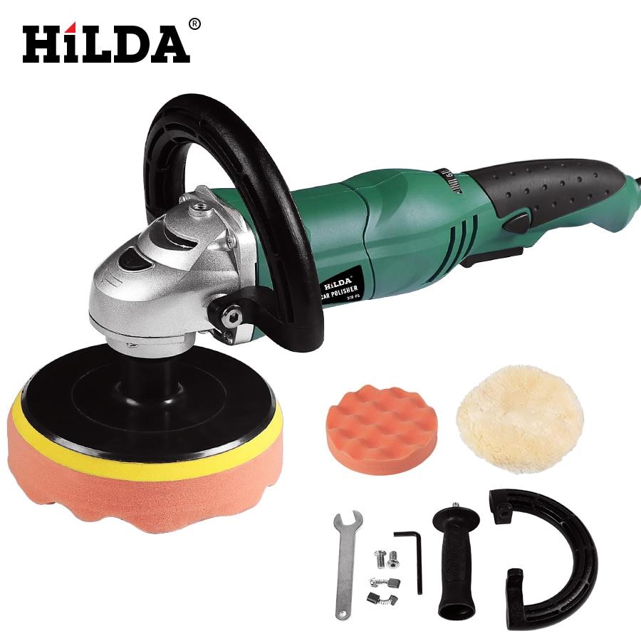 цена на HILDA Car Polisher 1200W Variable Speed 3500rpm 150mm Car Paint Care Tool Polishing Machine Sander M14 Electric Floor Polisher