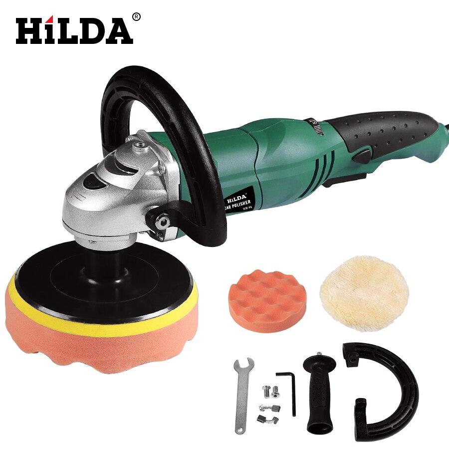 HILDA auto pulidor 1200 W velocidad Variable 3500 rpm 150mm pintura de coche herramienta de cuidado de la máquina de pulido Sander M14 eléctrica pulidora