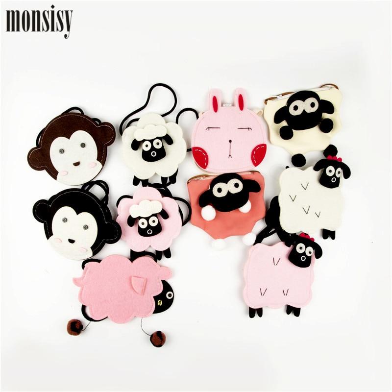 Monsisy Summer Cute Crossbody Bag For Girl Boy Cartoon 3D Animal Coin Purse Kid Messenger/Shoulder Bag Fashion Children Handbag