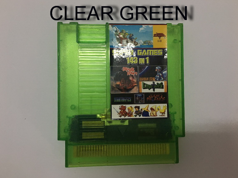 2018 Hot Classical TOP 72 Pin 8 Bit Game Cartridge 143 In 1 For Game Console