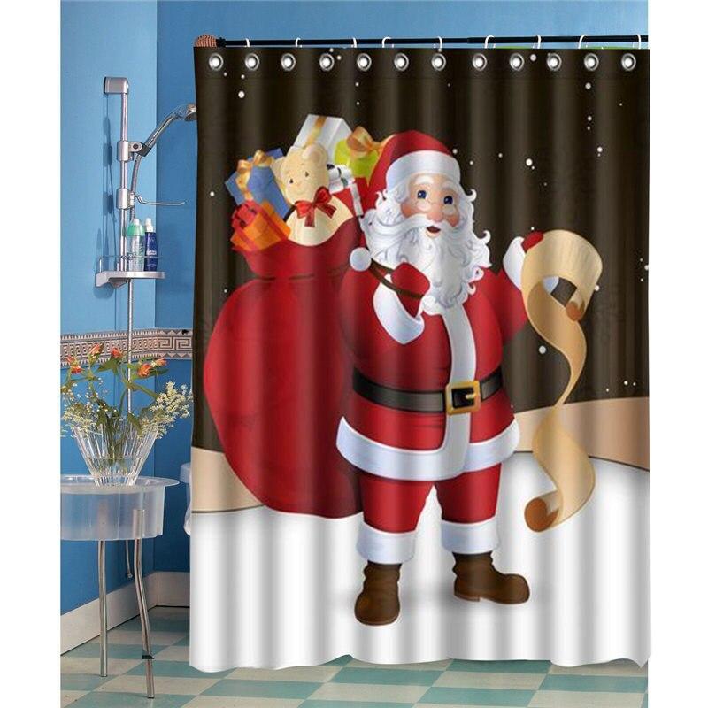 Frohe Weihnachten Thema Duschvorhang Wasserdicht Polyester Badewanne ...