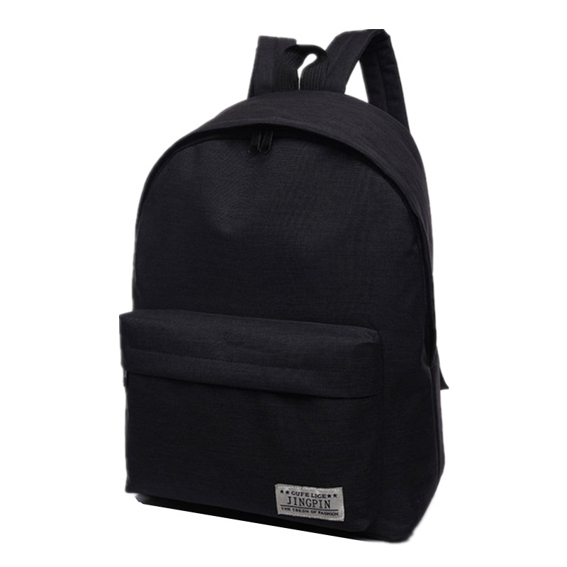 17b3076249 Brand Canvas Men Women black Backpack College High Middle School Bags For  Teenager Boy Girls Laptop