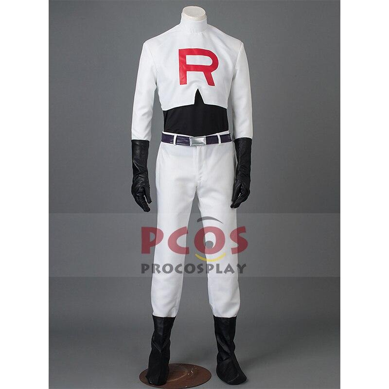 Monstre de poche/Pokemon équipe fusée James Cosplay Costume mp002222