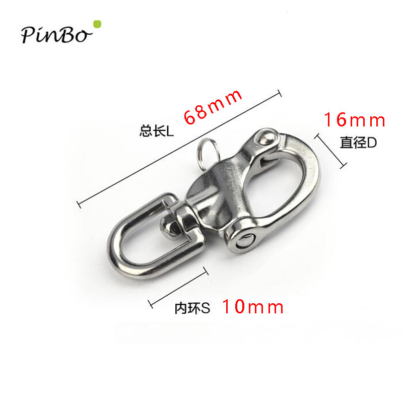 70mm 316 Stainless Steel Swivel Shackle Quick Release Boat Anchor Chain Eye Shackle Swivel Snap Hook for Marine Architectural
