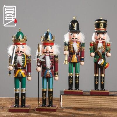 [Nouveau] boutique 4 PC ensembles marionnettes soldats 31 CM classique sac tissu chambre étude manteau casse-noisette soldats cadeau