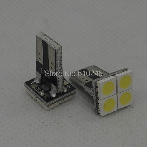 100X T10 4smd 5050 4 LED car Light Canbus W5W 194 5050 SMD DC12V wholesale auto Light Bulbs free shipping