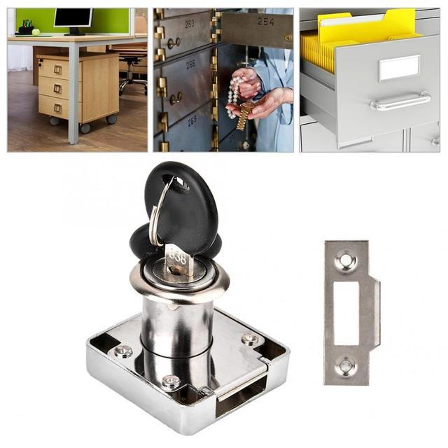 Fechamento Do Armário de Arquivo de mesa Hardware Mobiliário Porta do Armário Gaveta Curto Língua Bloqueio Armário Seguro