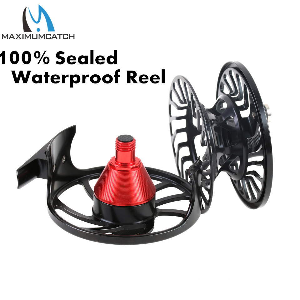 Maximumcatch VM Saltwater Sealed Drag 100% Waterproof Large arbor Fly Reel 5-12wt Multi-Disc T6061 aluminium Fly Fishing Reel