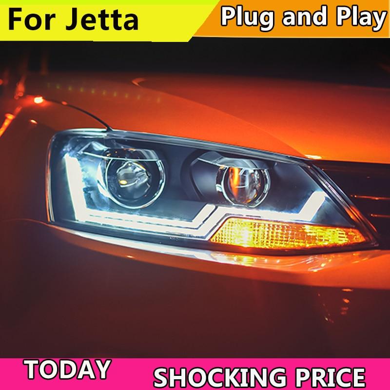 doxa 2PCS Car Style LED headlights for VW Jetta 2011 2017 for Jetta head lamp LED