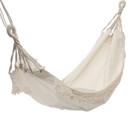 Outdoor Camping Hammock Swing Safety Portable Hanging Chair Pure White Romantic Lace For Travel Hiking Garden Sleeping