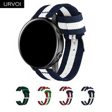 URVOI Nylon band for Galaxy watch active NATO strap for Galaxy watch 42 46mm durable woven nylon wrist band(China)