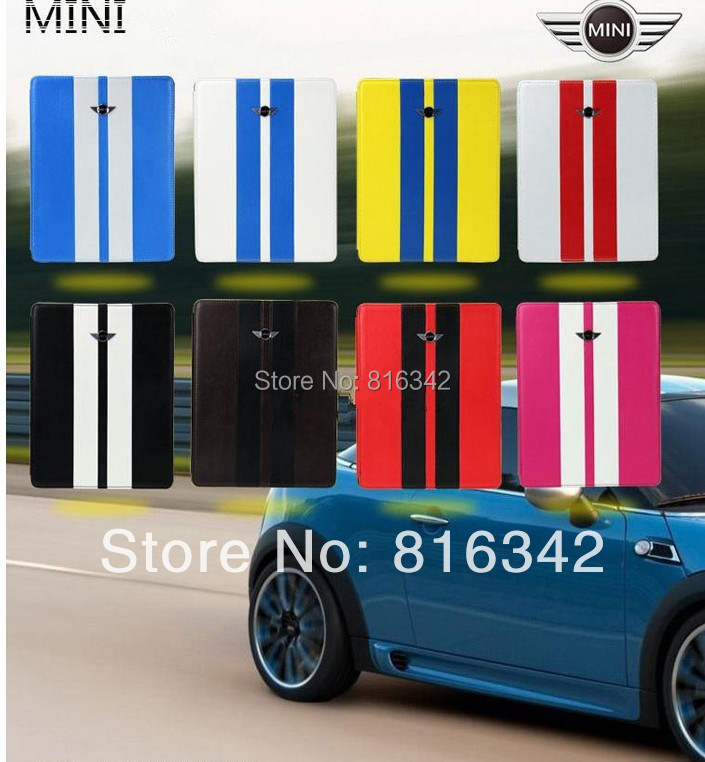 iPad Mini Cooper Linear Pattern Smart Leather Case Stand, Cover mini 1 2 3 - Desheng (HK store Trading Co., Ltd.)
