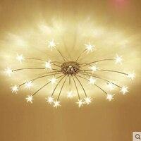 Moderne minimalistische LED woonkamer plafondlamp sfeer warm kinderen slaapkamer slaapkamer persoonlijkheid lamp creatieve ster licht-in Plafondverlichting van Licht & verlichting op