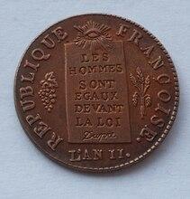 France, 1/2 sols aux balances, 1793L, Limoges,copy coin