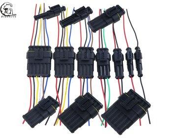 Connecteur de fil électrique étanche étanche pour voiture, 1 jeu de 1, 2/3/4/5/6 broches, femelle et mâle